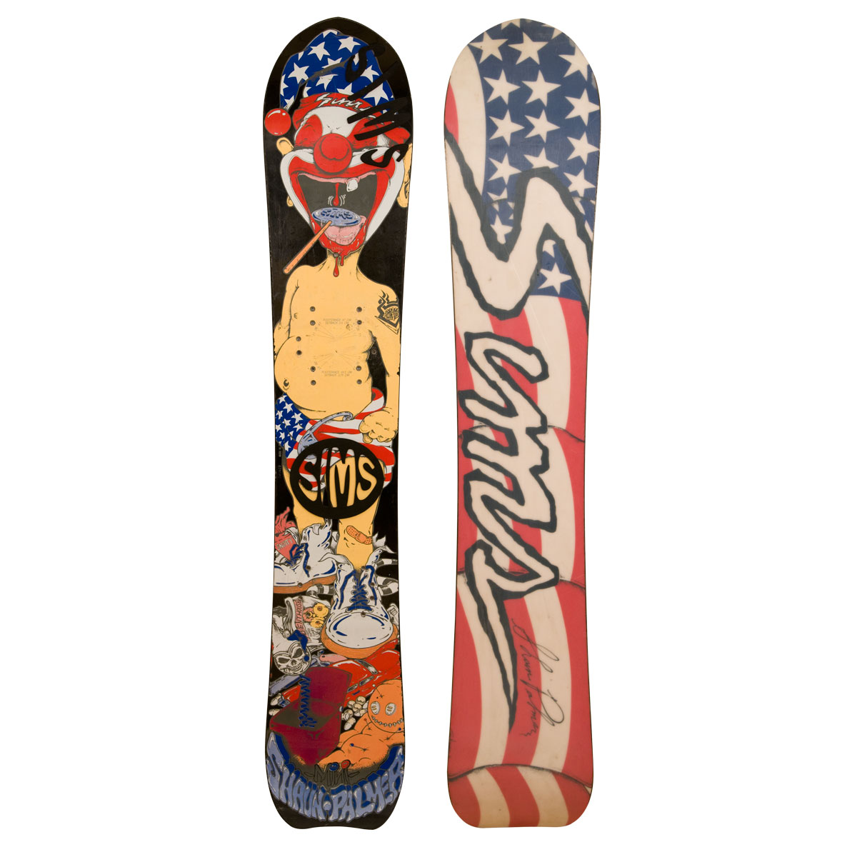 Sims Palmer Baby Clown Vintage Snowboard
